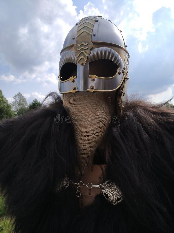 Casco de Viking fotos de archivo