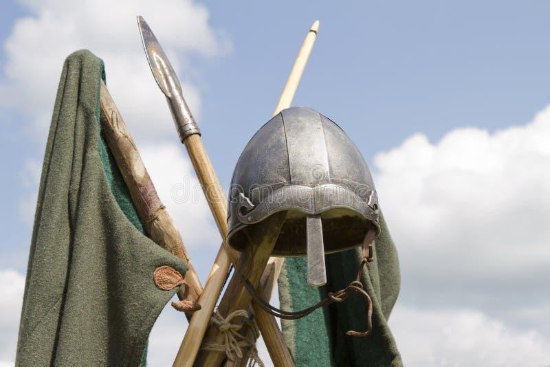 Casco de Vikingo imagenes de archivo