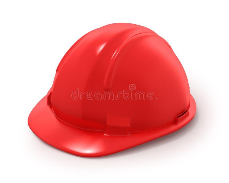 Casco del constructor rojo libre illustration