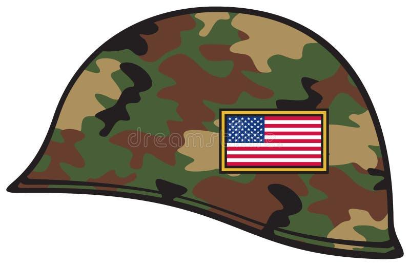 Casco del ejército stock de ilustración