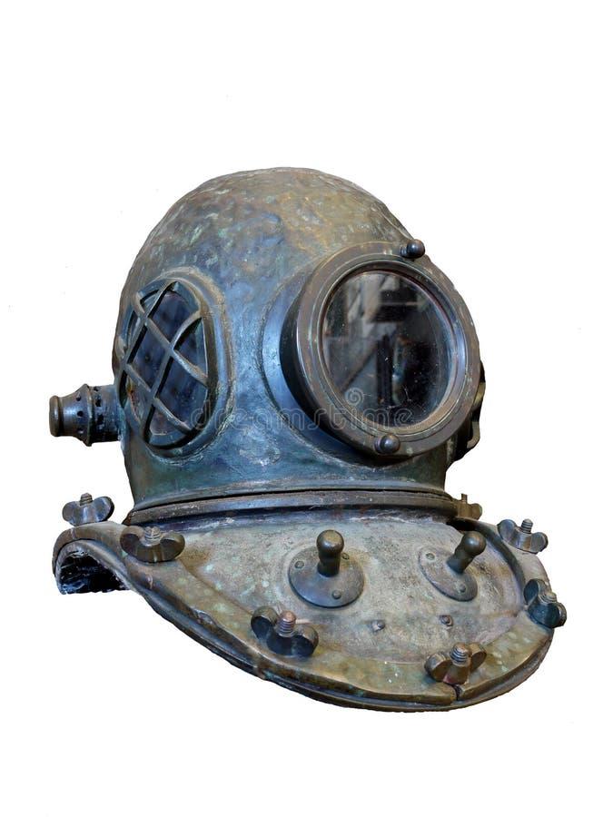 Casco del equipo de submarinismo de la vendimia imágenes de archivo libres de regalías