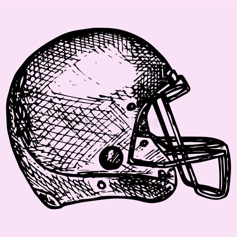 Casco del fútbol americano stock de ilustración