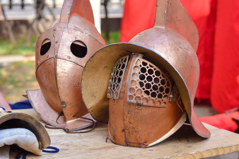 Casco del gladiador imagen de archivo libre de regalías