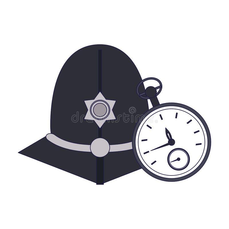 Casco del guardián de Londres ilustración del vector