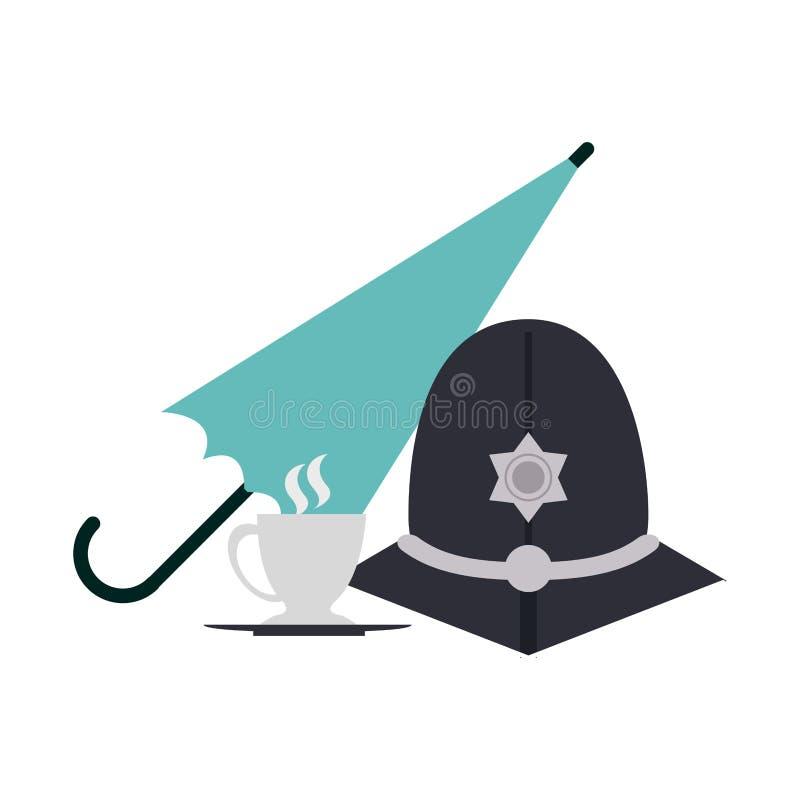 Casco del guardián de Londres stock de ilustración
