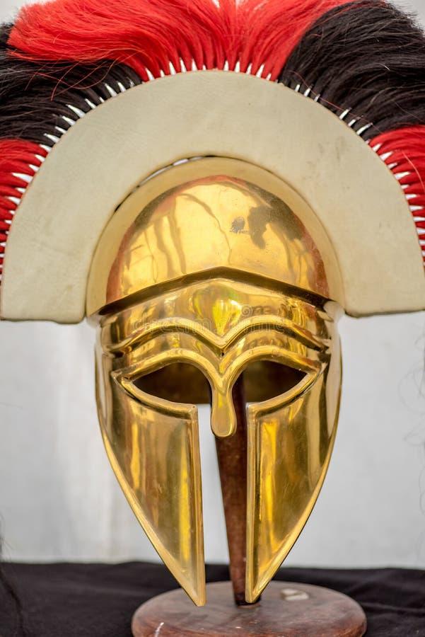 Casco del guerrero del griego clásico fotografía de archivo libre de regalías