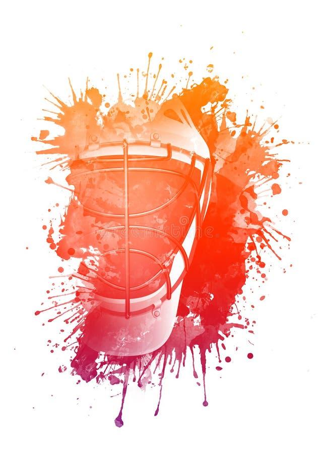 Casco del hockey libre illustration