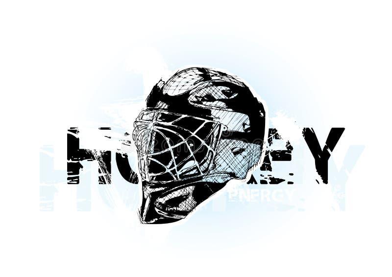 Casco del hockey sobre hielo stock de ilustración