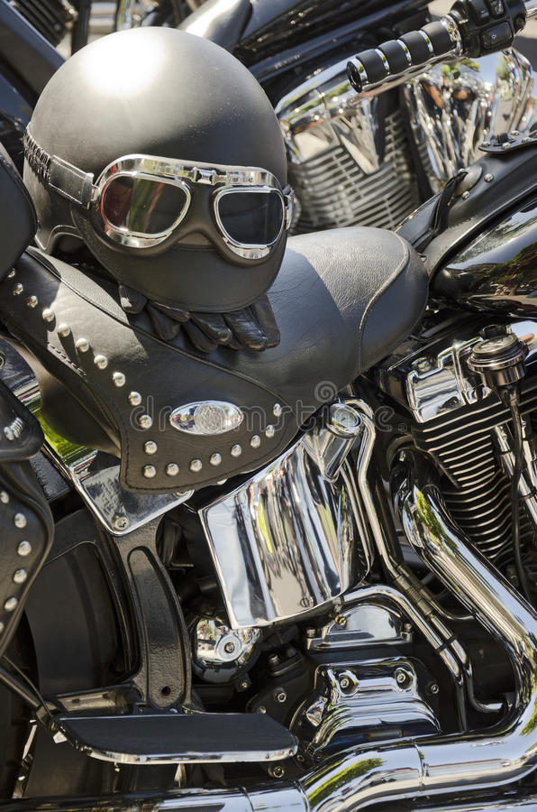 Casco Del Motociclo Fotografia Stock