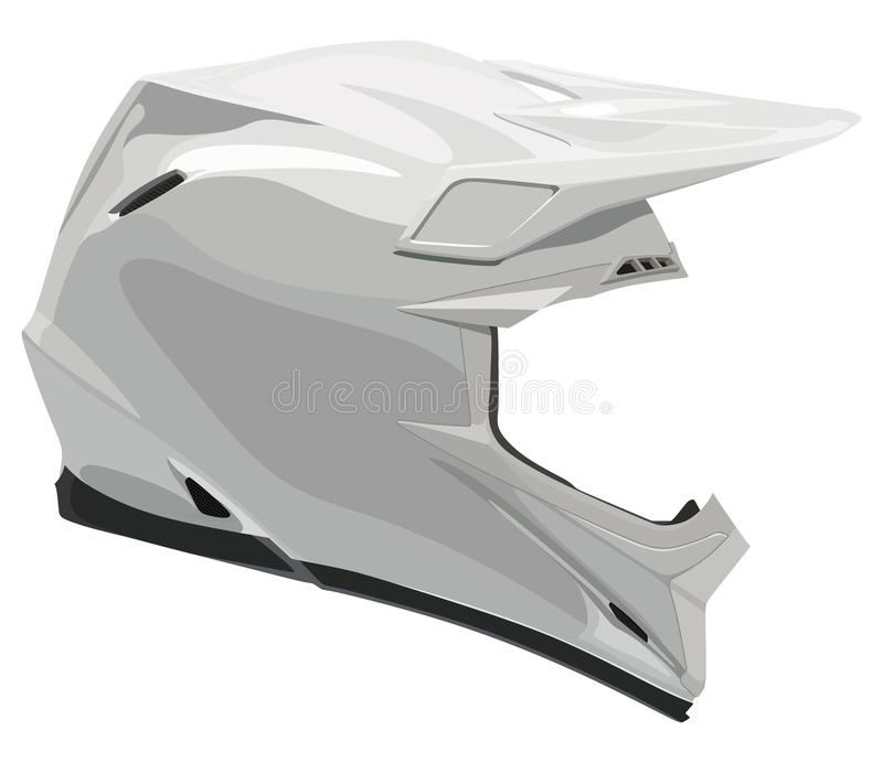 Casco del motociclo illustrazione di stock