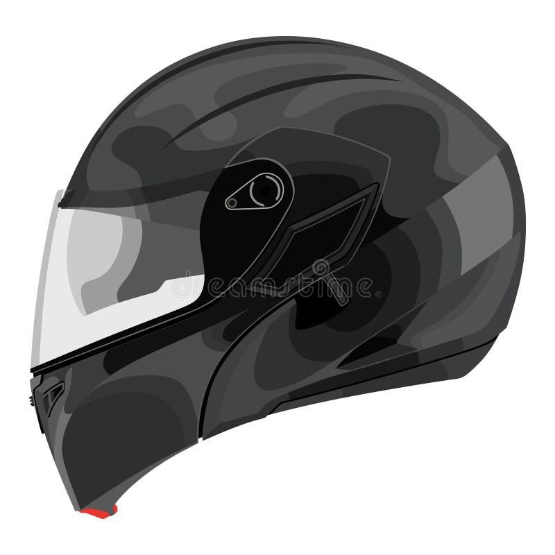 Casco del motociclo royalty illustrazione gratis