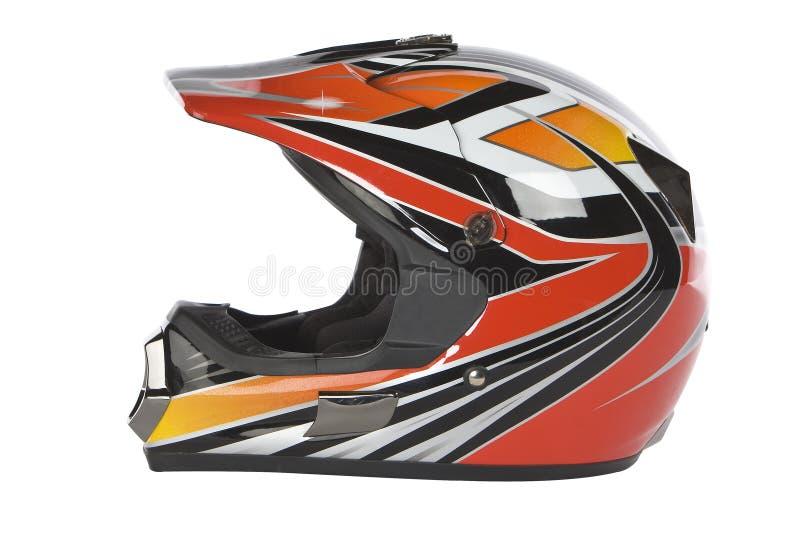 Casco del motociclo di motocross fotografia stock libera da diritti