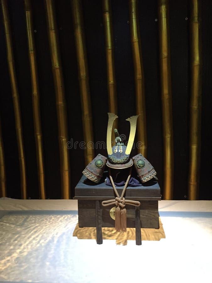 Casco del samurai, Kabuto, armadura japonesa tradicional imagen de archivo