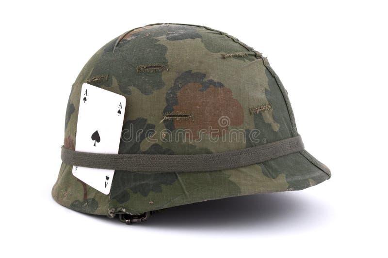 Casco dell'esercito americano - Era del Vietnam immagini stock
