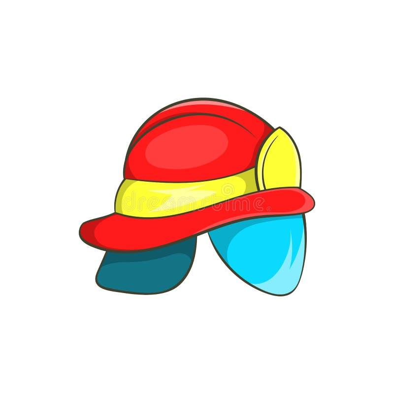 Casco dell'icona del pompiere, stile del fumetto royalty illustrazione gratis