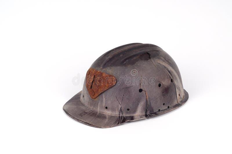Casco della bachelite di un minatore immagini stock libere da diritti