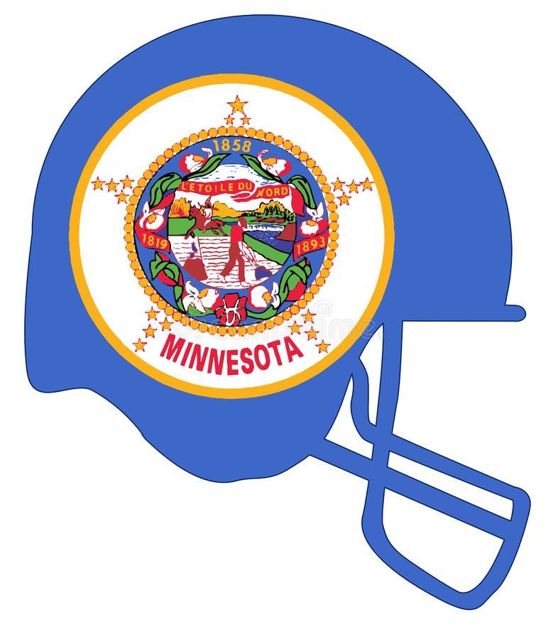 Casco di calcio della bandiera dello stato del Minnesota illustrazione vettoriale