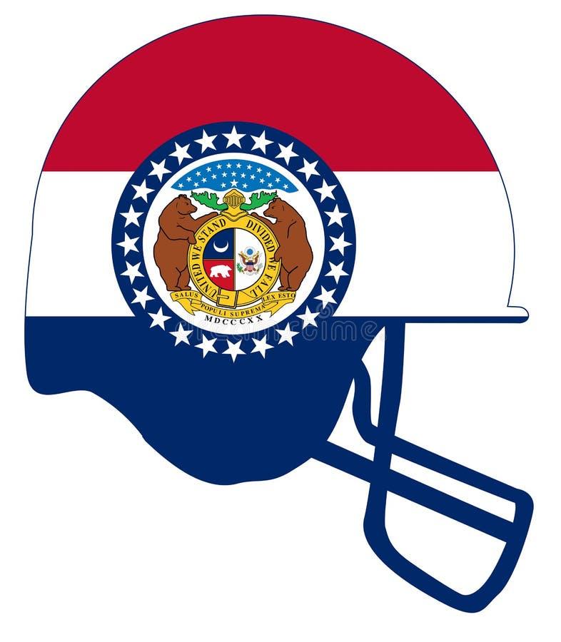 Casco di calcio della bandiera dello stato del Missouri illustrazione vettoriale