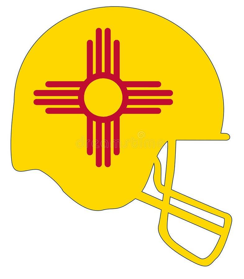 Casco di calcio della bandiera dello stato del New Mexico royalty illustrazione gratis