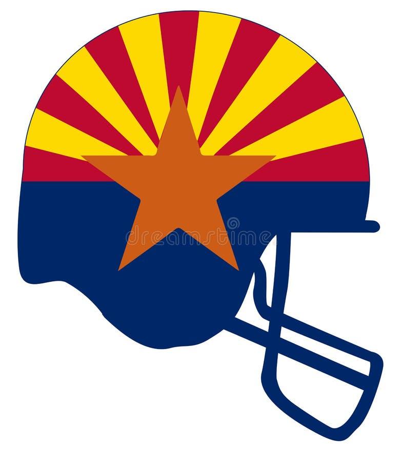 Casco di calcio della bandiera dello stato dell'Arizona illustrazione vettoriale