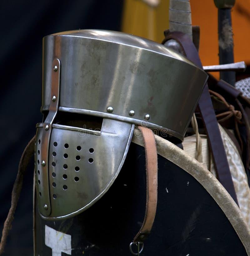 Casco di un cavaliere immagine stock