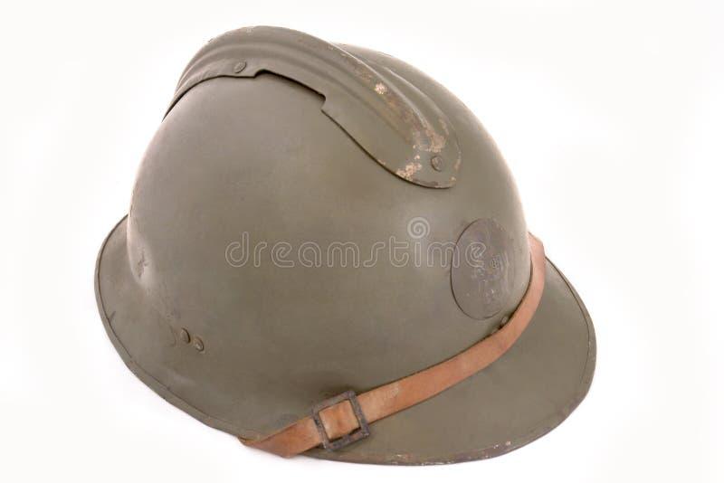 Casco francés de la batalla fotografía de archivo