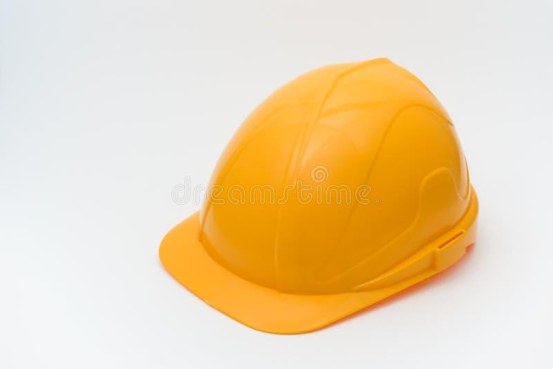 Casco giallo di sicurezza immagini stock