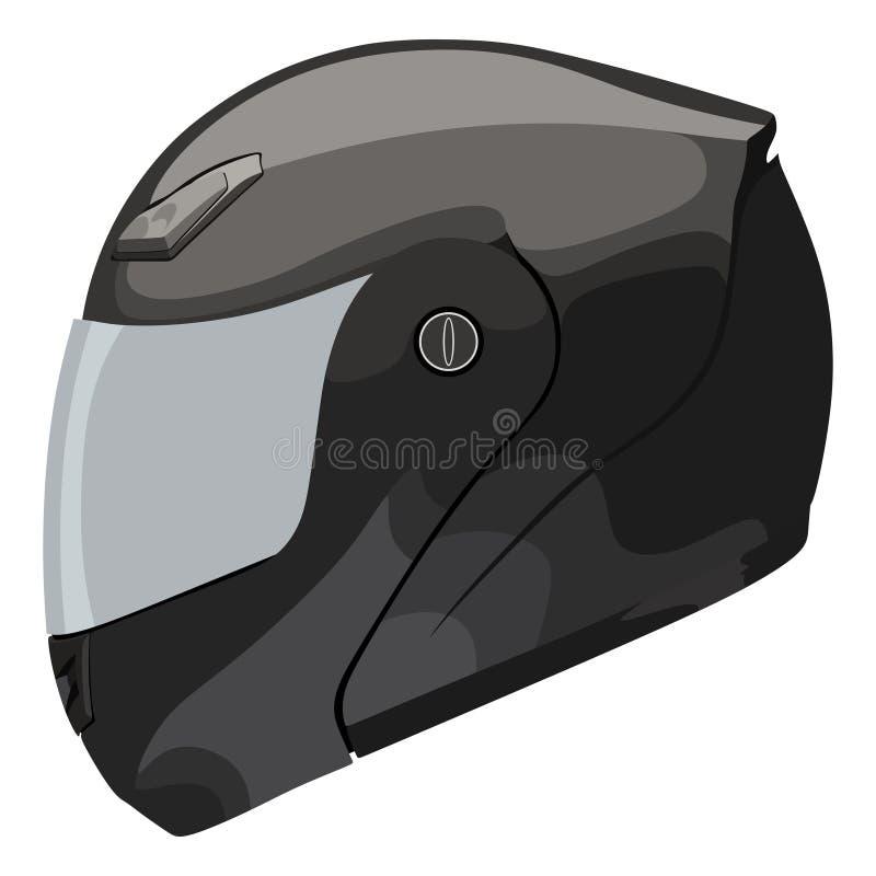 Casco grigio del motociclo illustrazione di stock