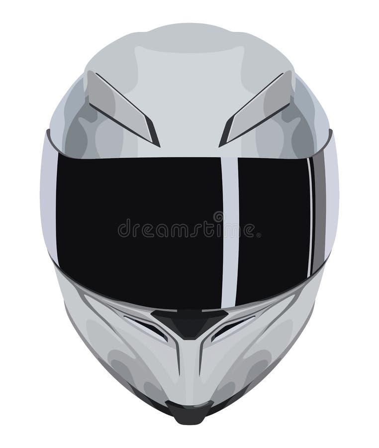 Casco grigio del motociclo royalty illustrazione gratis