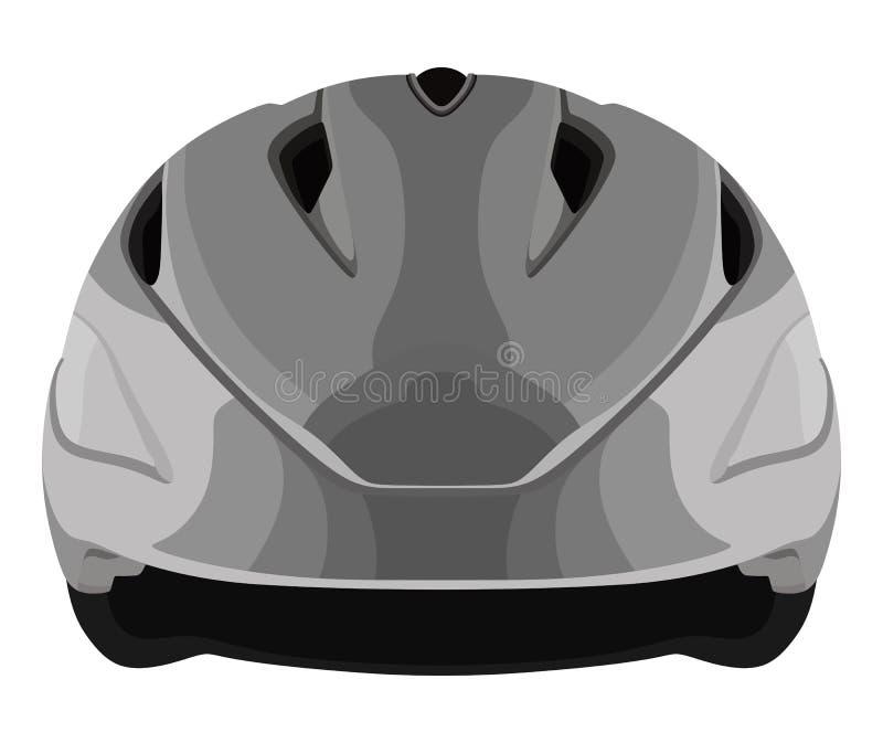Casco grigio della bicicletta illustrazione di stock