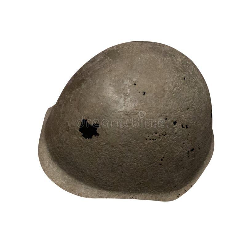 Casco isolato su fondo bianco casco della seconda guerra mondiale fotografie stock libere da diritti