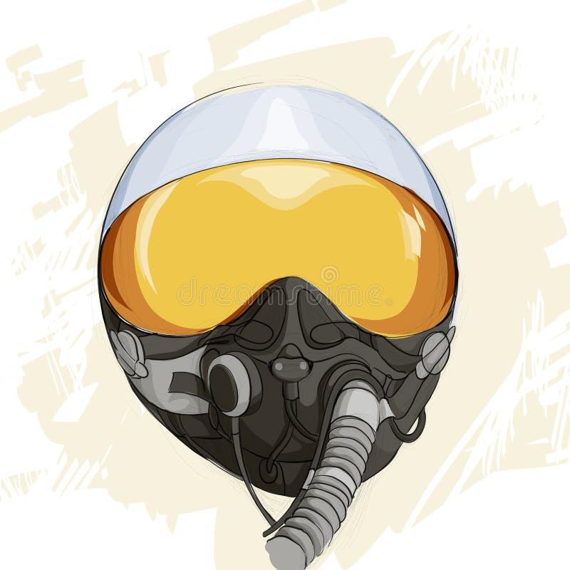 Casco militar del vuelo libre illustration