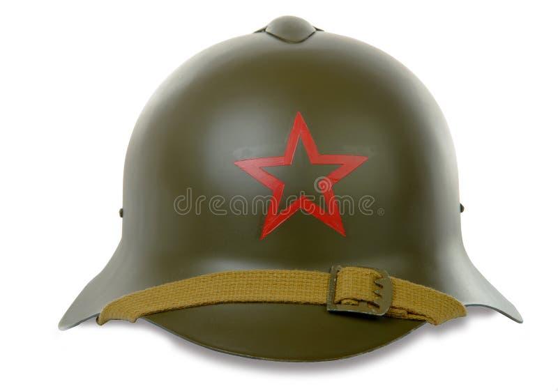 Casco militare sovietico fotografia stock