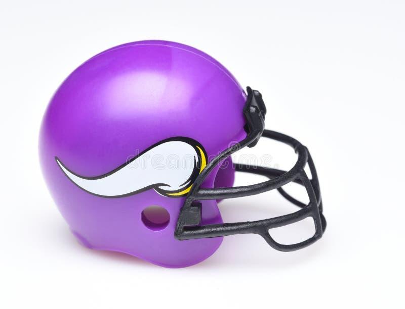 Casco per i Minnesota Vikings fotografia stock libera da diritti