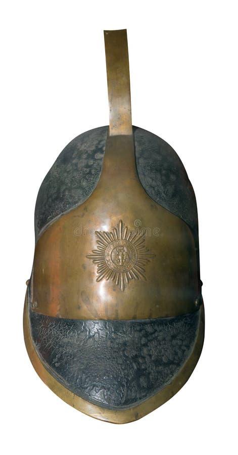 Casco romano del centuri?n aislado en el fondo blanco casco romano del centuri?n del vintage fotos de archivo