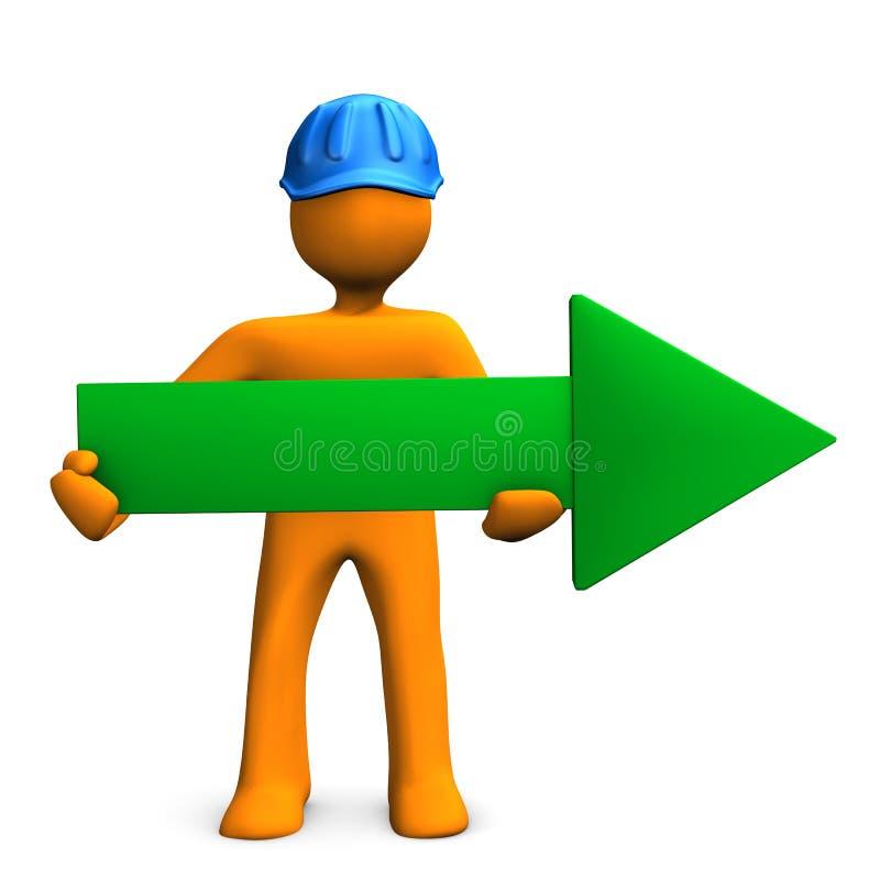 Casco verde de la flecha del maniquí libre illustration