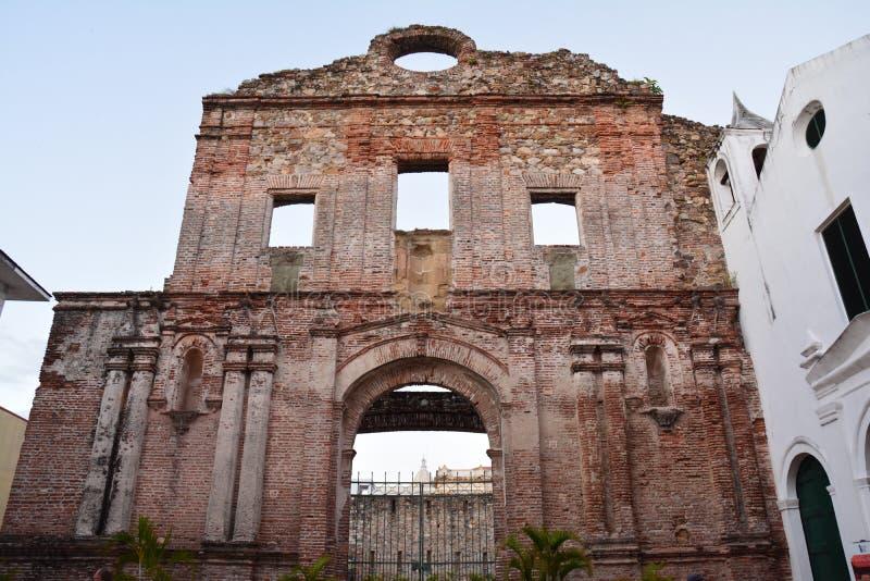 Casco Viejo del Panama Città Vecchia nel ¡ di Panamà alla notte fotografie stock