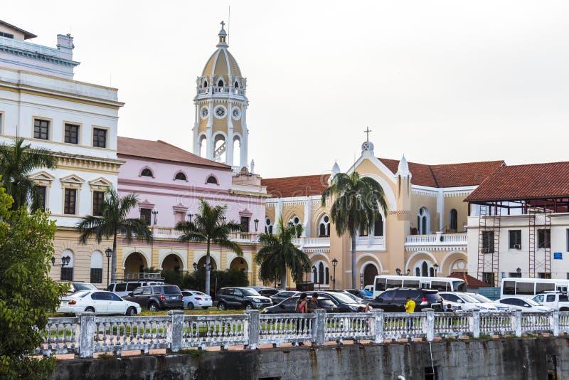 Casco Viejo en ciudad de Panamá imagenes de archivo