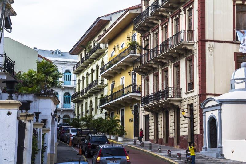Casco Viejo i Panama City fotografering för bildbyråer