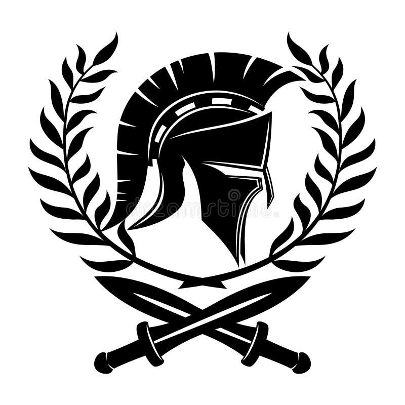 Casco y espadas espartanos libre illustration