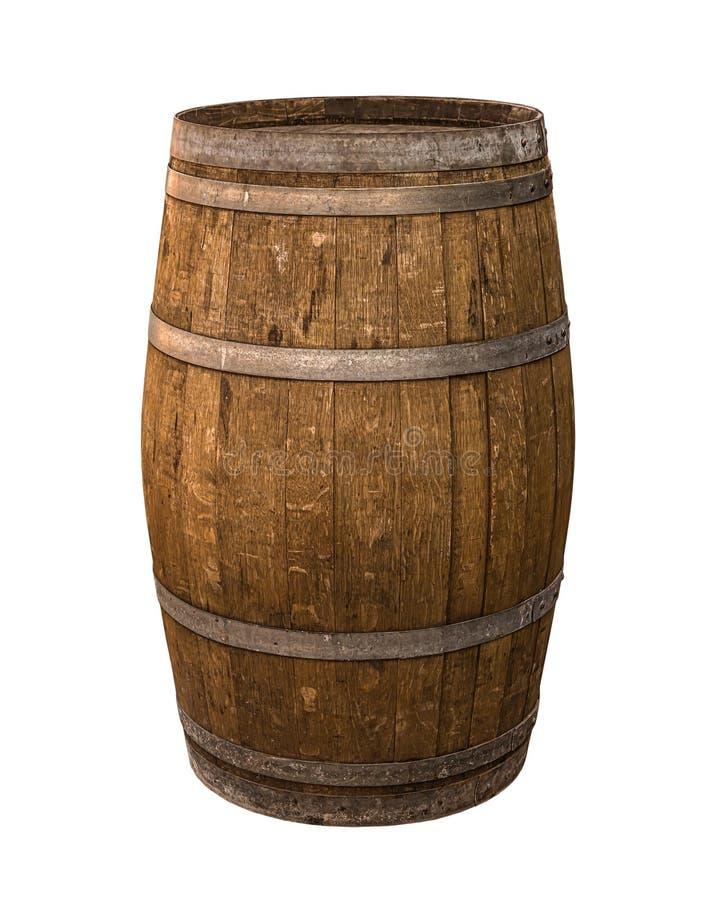 Cascos de madeira de aço castanho, forros cinzentos de carvalho, vinificação tradicional imagem de stock royalty free