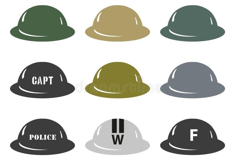Cascos de MkII del ejército británico stock de ilustración