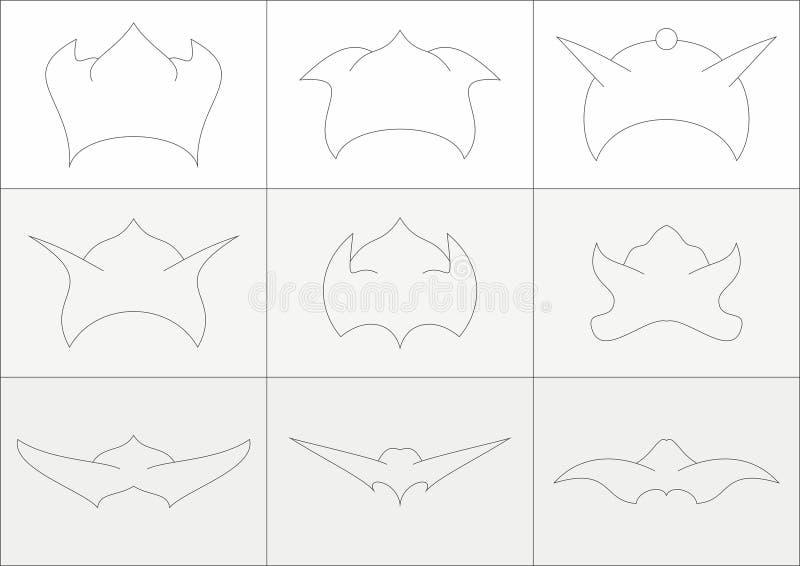 Cascos del duende con los oídos ilustración del vector