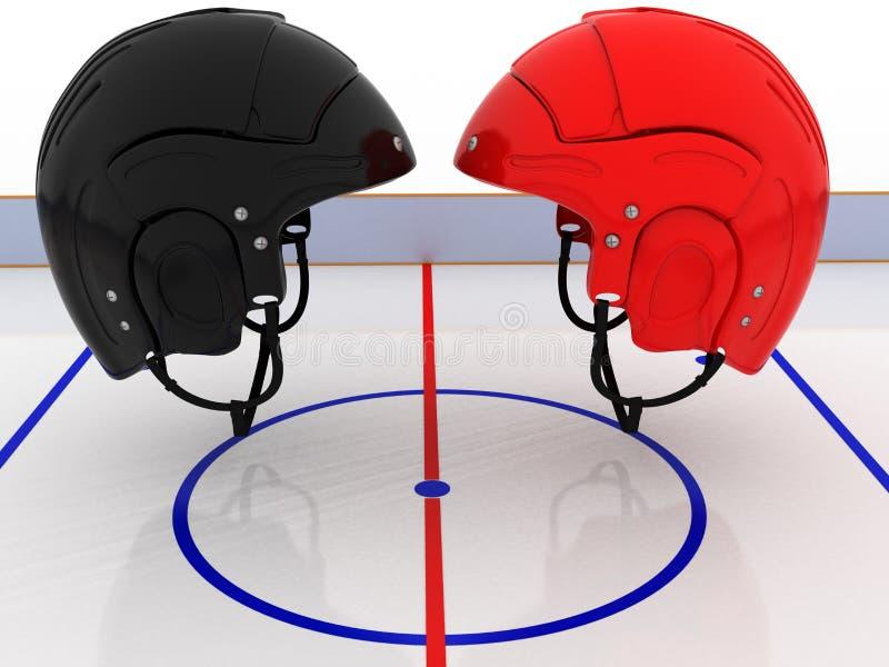 Cascos del hockey sobre el campo del hockey. #5 libre illustration