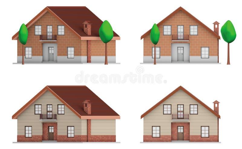 Case americane illustrazione di stock illustrazione di for Costruzione di case americane