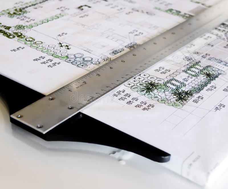 Case architettoniche delle cianografie immagini stock