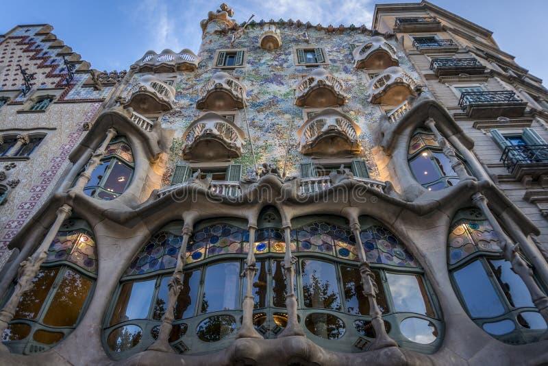 Case Batllo a Barcellona immagini stock libere da diritti