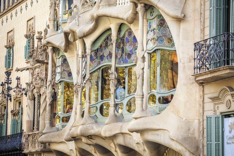 Case Batllo da Antoni Gaudi a Barcellona, Spagna immagine stock