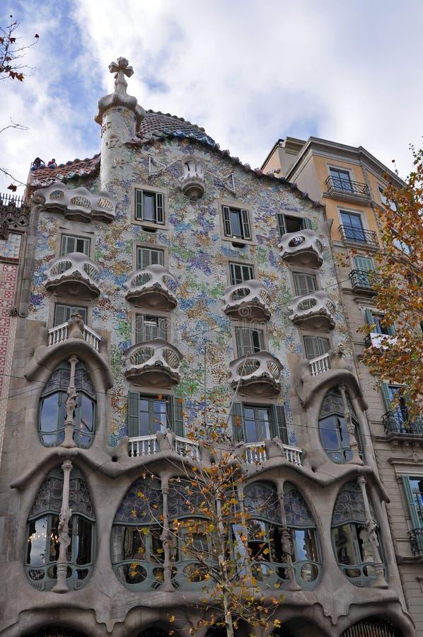 Case Battlo a Barcellona immagini stock libere da diritti