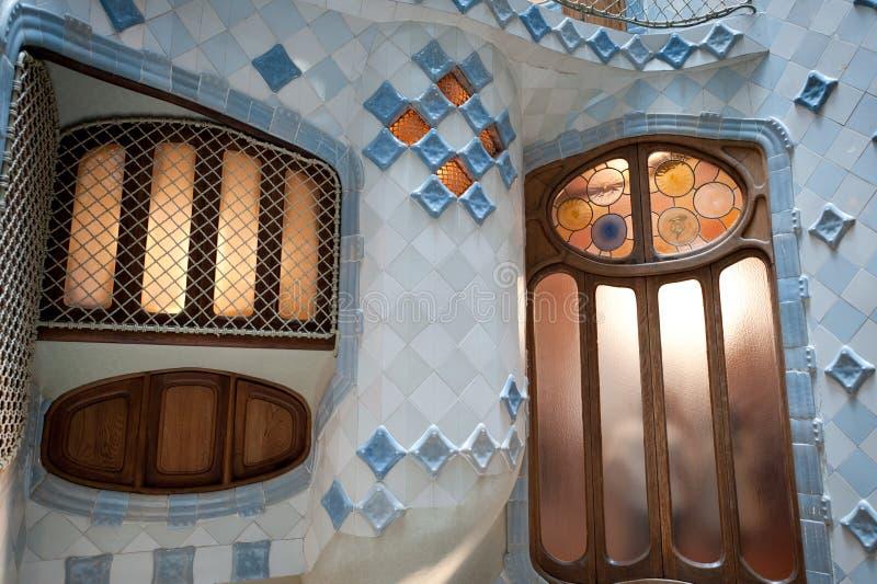 Case Battlo da Gaudi a Barcellona immagine stock libera da diritti
